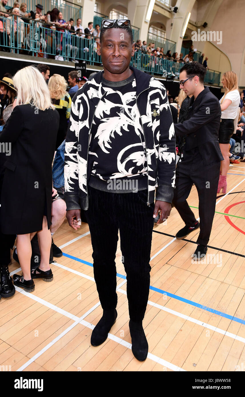 ebb18c18c47 David Harewood during the Vivienne Westwood show as part of London Fashion  Collections Men 2018.