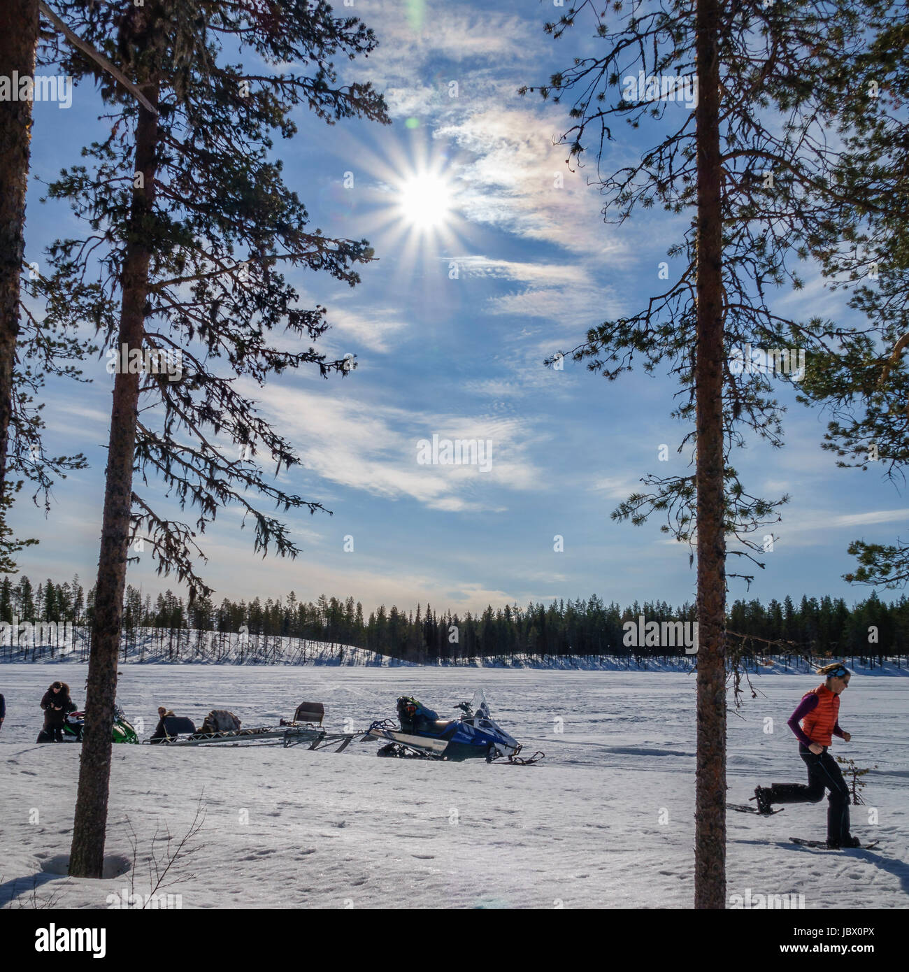 Kangos is a locality situated in Pajala Municipality, Norrbotten County, Swedish Lapland. - Stock Image