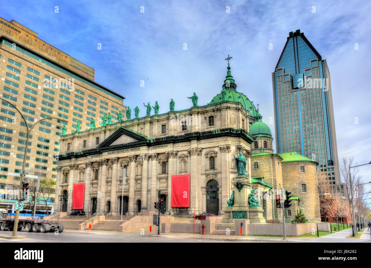 Mary, Queen of the World Cathedral in Montreal, Canada - Stock Image