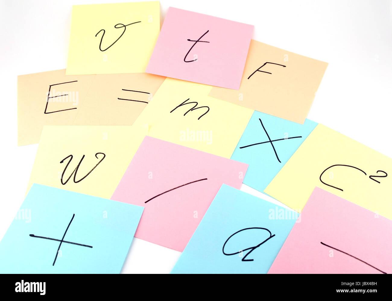 Reminder Notes Scientific Symbols Physics Stock Photos Reminder