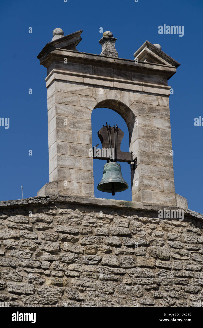 the bell of saint firmin in gordes Stock Photo
