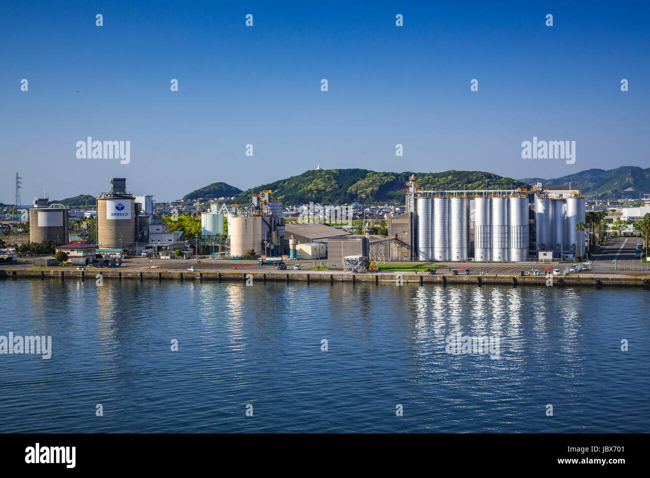 The Hososhima, Myazaki port, on the eastern coast of the Miyazaki Prefecture of Kyushu, Japan. - Stock Image
