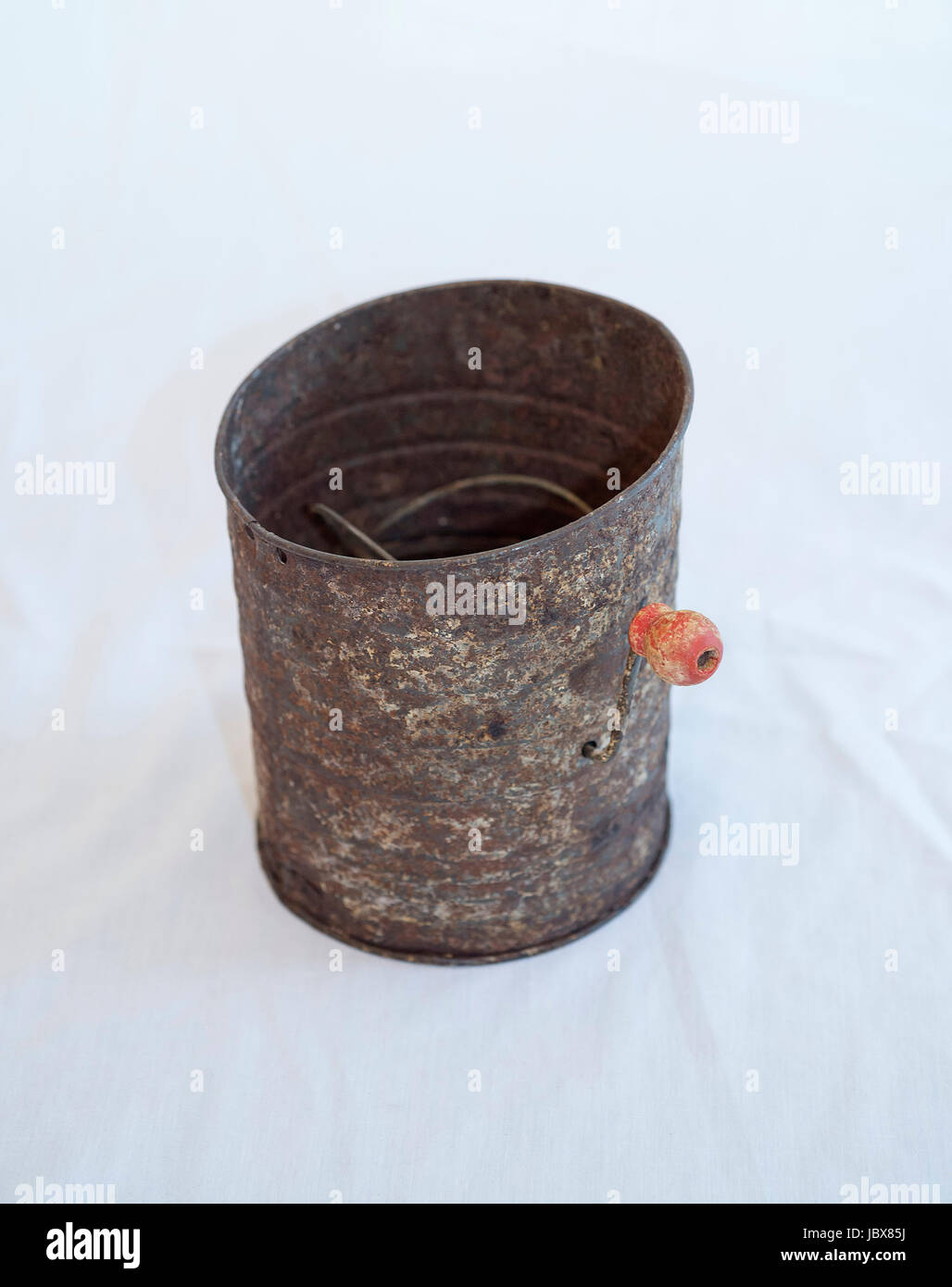 Vintage Bromwell flour sifter - Stock Image