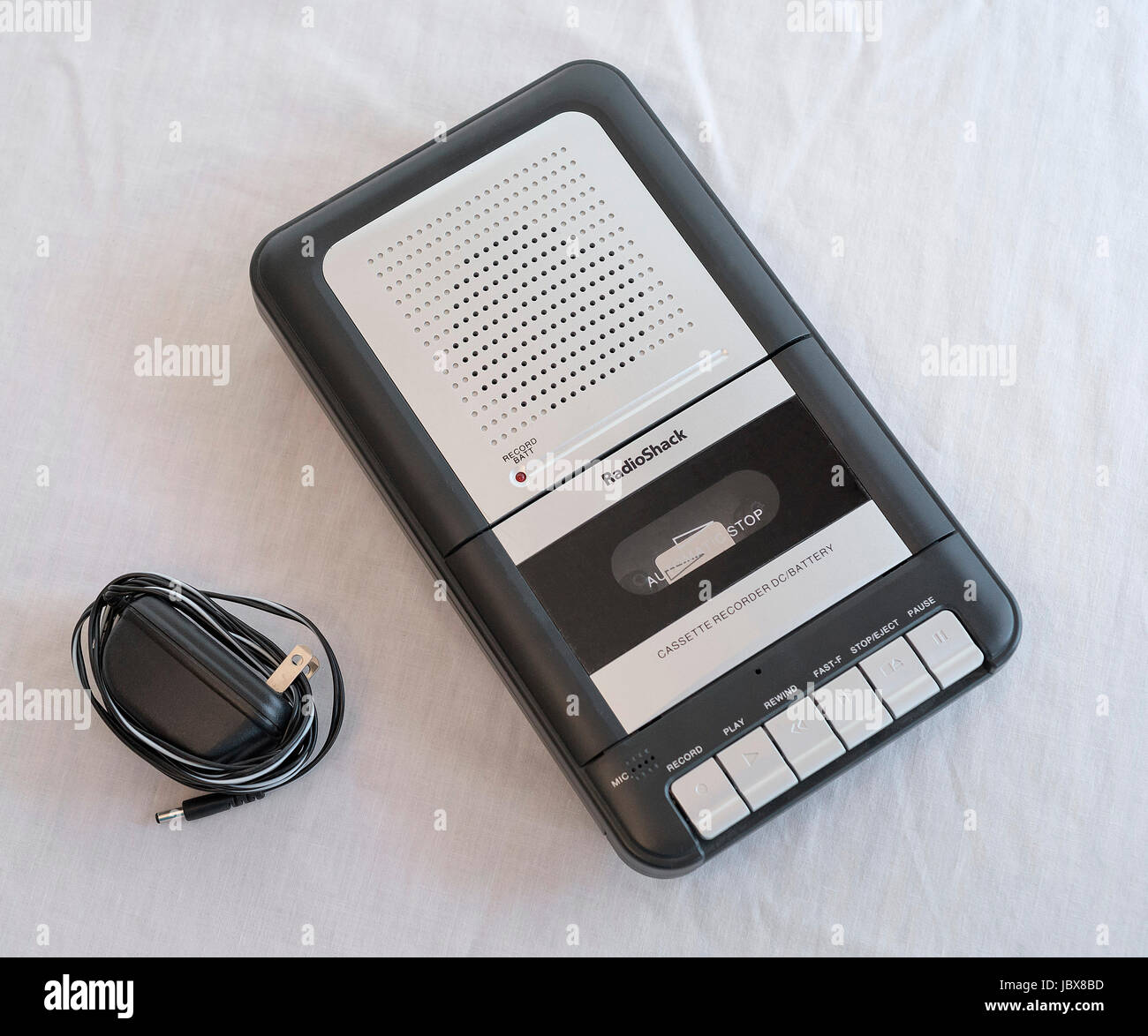 Radio Shack Cassette Recorder and player - Stock Image