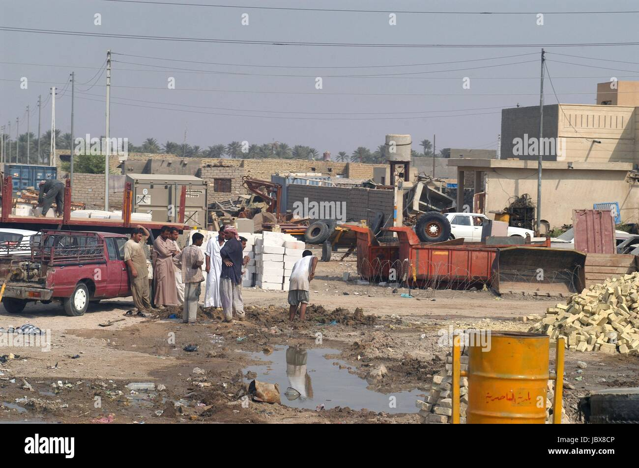 Iraq, the outskirts of Nassiriya town - Stock Image