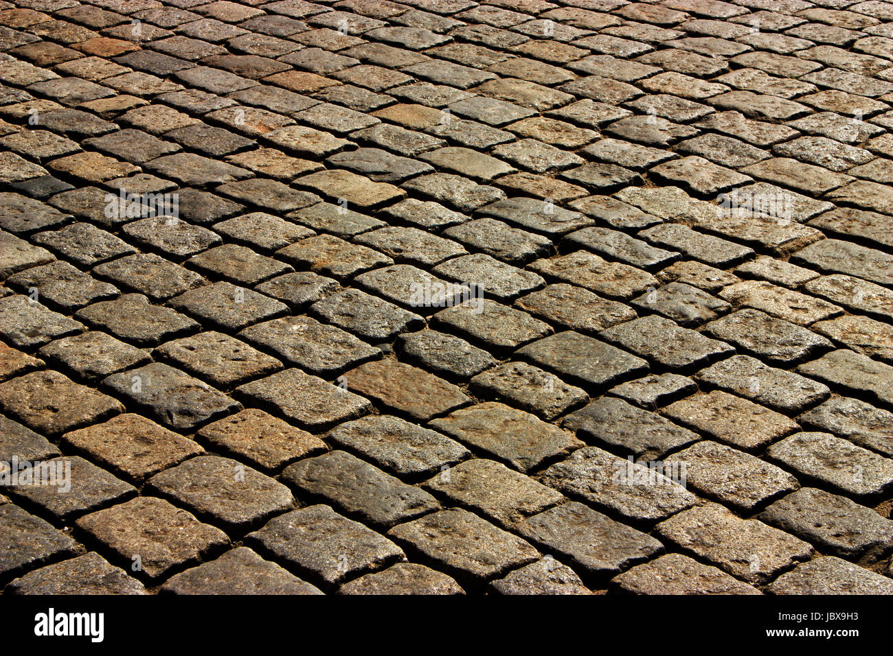Beautiful paving stone  in Moscow,Russia - Stock Image