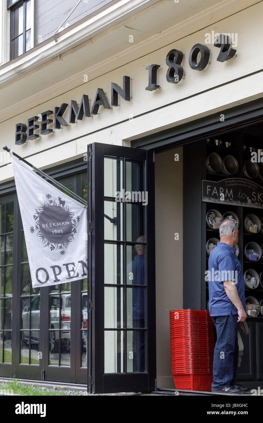 SHARON SPRINGS, NY, USA - MAY 27 2017: Beekman 1802 popular home decor store, spun off from TV series The Beekman - Stock Image