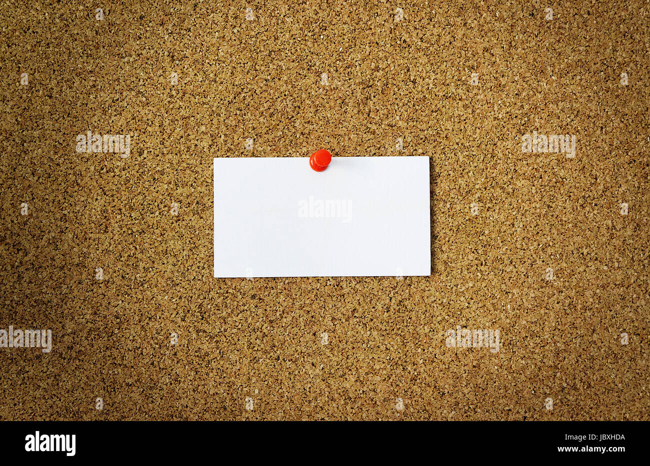 Business card on a cork board, mocap for a Stock Photo: 145028614 ...