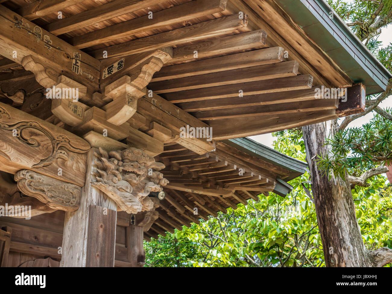 Detail at Gokuraku-ji temple, a Buddhist temple of the Shingon sect in Kamakura, Kanagawa Prefecture, Japan. It - Stock Image