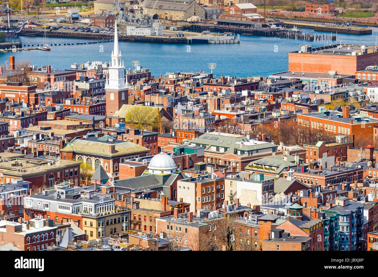 Boston, Massachusetts, USA at North End. - Stock Image