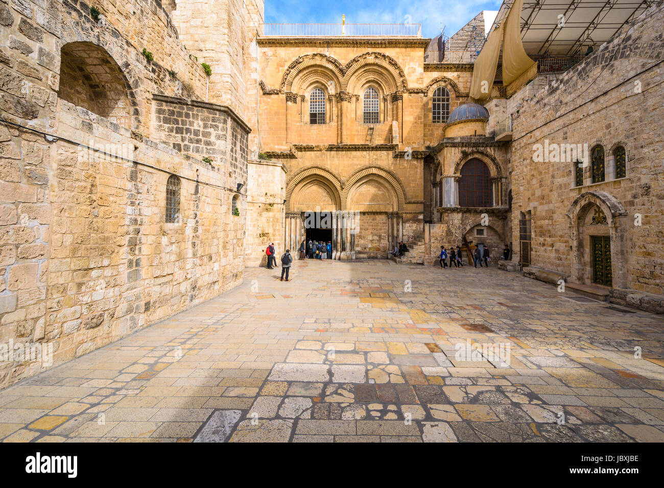 Jerusalem, Israel at  The Church of the Holy Sepulchre. - Stock Image
