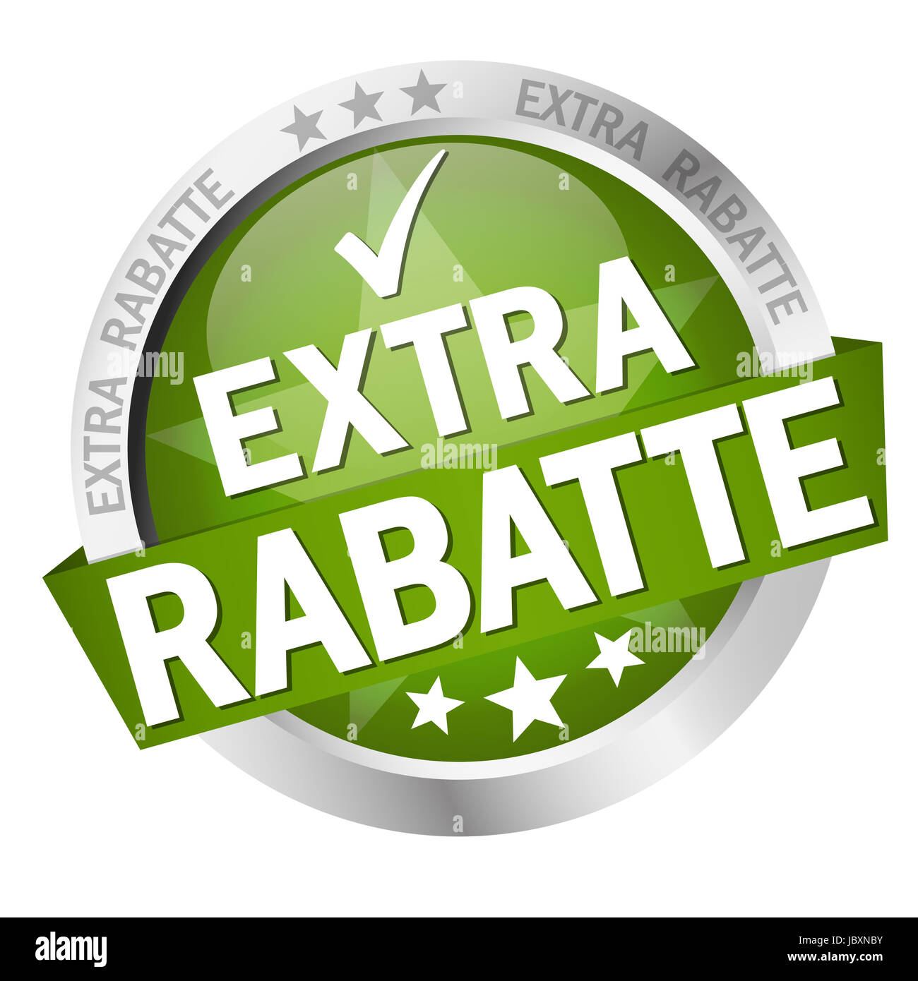 Button - Extra Rabatte Vector Stock Photo