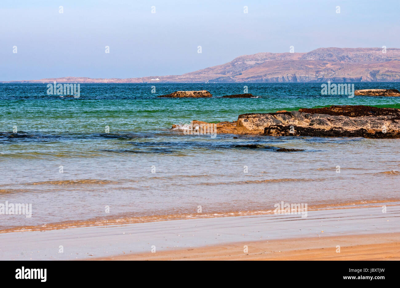 Views from Killahoey Beach, Dunfanaghy, County Donegal, Ireland - Stock Image