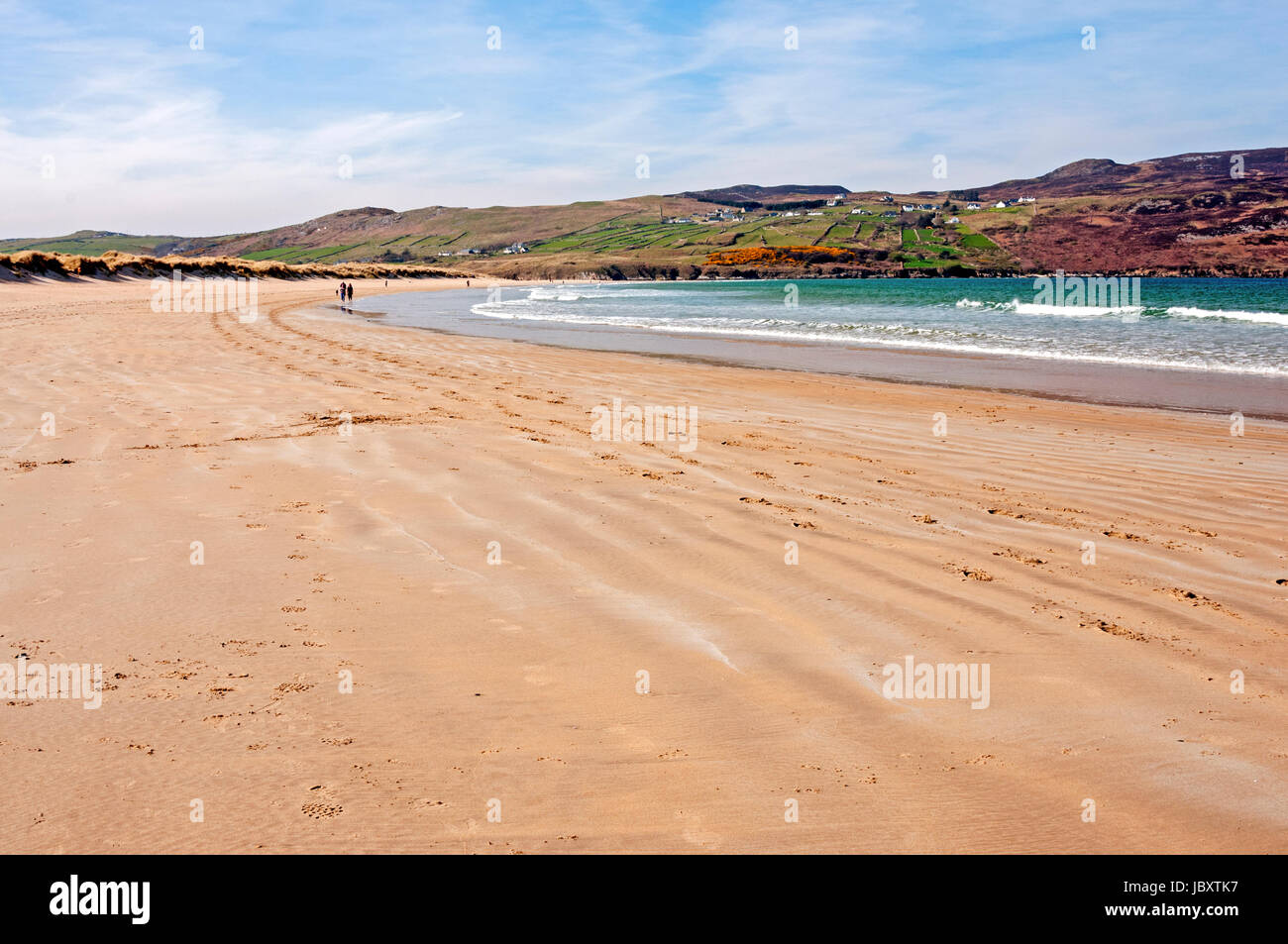 Killahoey Beach, a blue flag beach in Dunfanaghy, County Donegal, Ireland - Stock Image
