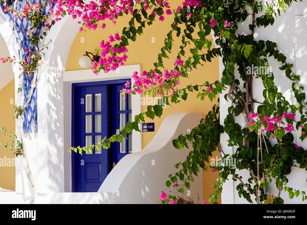 Traditional house, Santorini - Stock Image