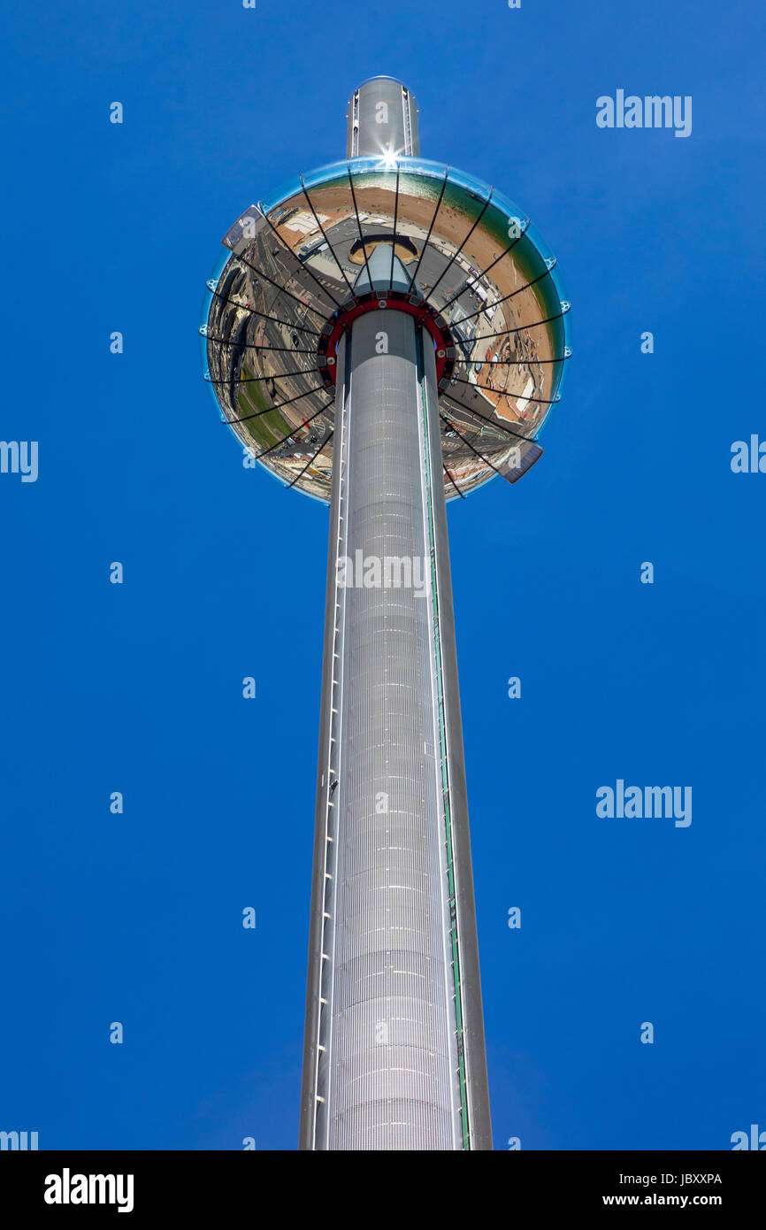BRIGHTON, UK - MAY 31ST 2017: The impressive British Airways i360 observation tower located on Brighton seafront Stock Photo