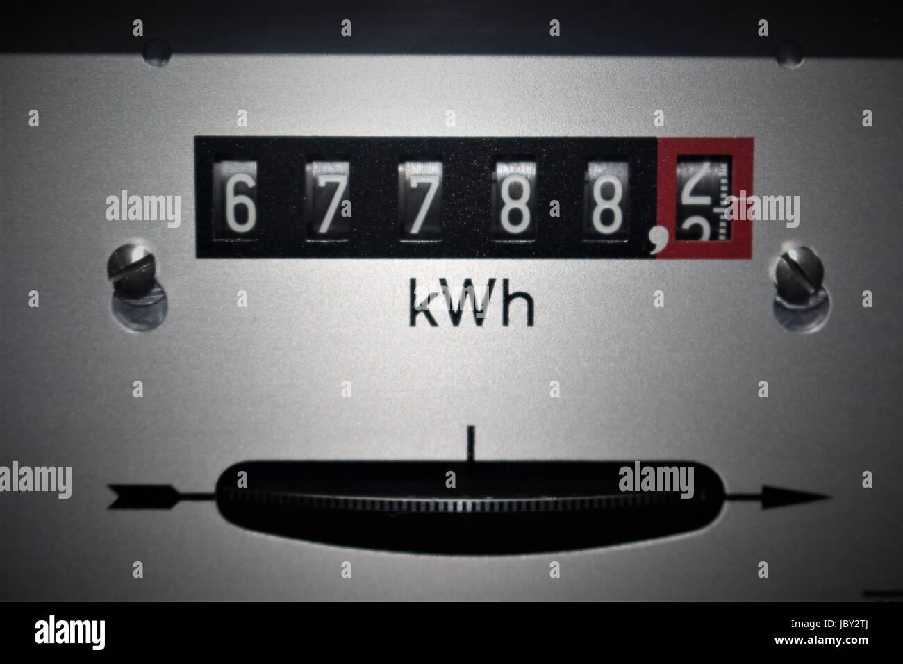 An Image of a electricity counter - Stock Image