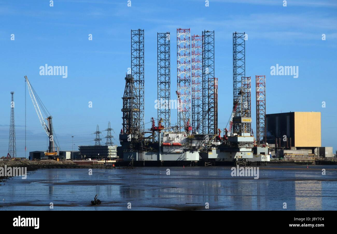 Able UK shipyard, Tees estuary - Stock Image