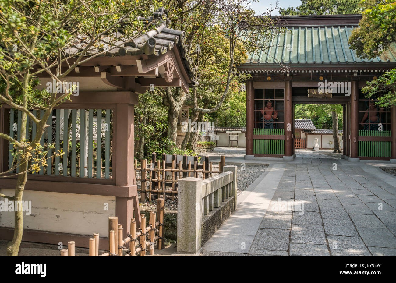 Kōtoku-in a Buddhist temple of the Jōdo-shū sect in the city of Kamakura in Kanagawa Prefecture, Japan. - Stock Image