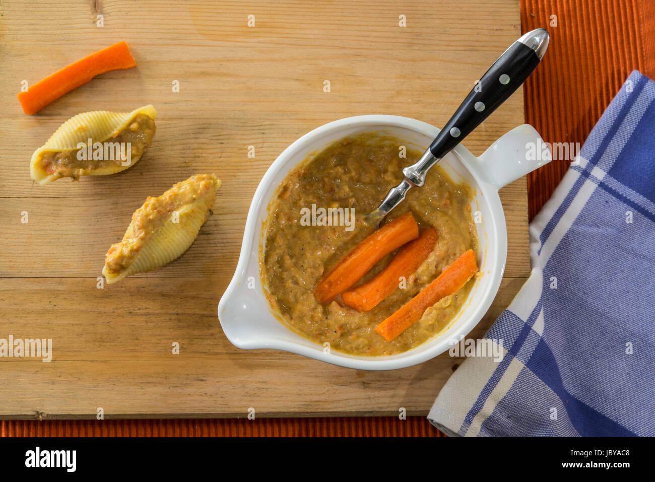 cream carrots Stock Photo