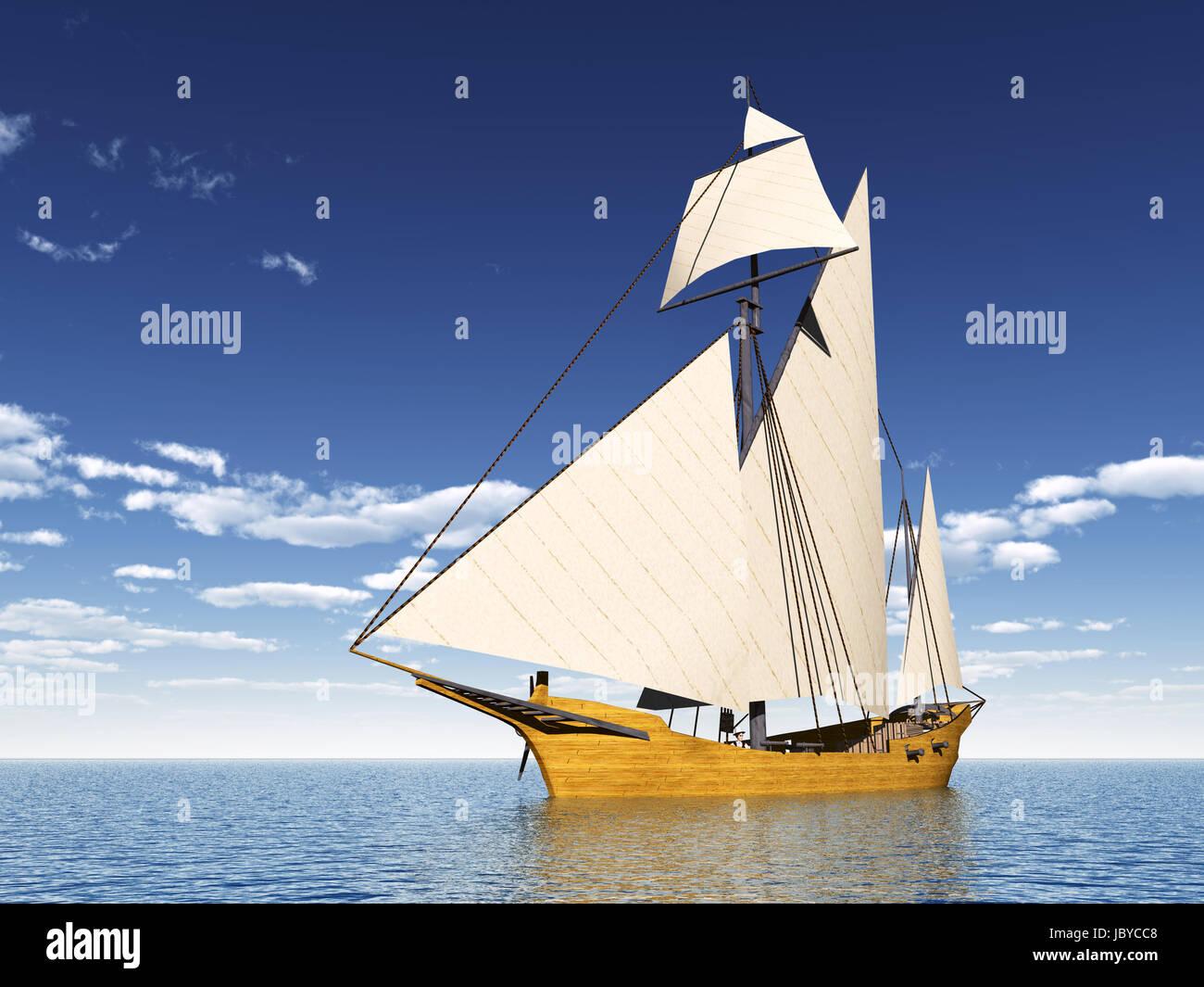 caravel - Stock Image