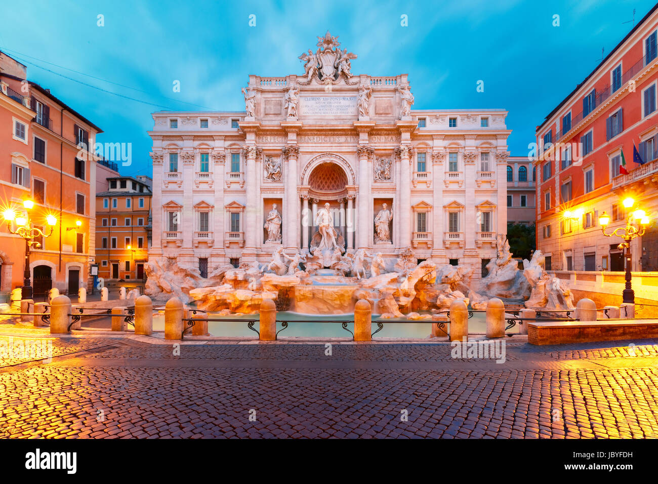 Trevi Fountain or Fontana di Trevi in Rome, Italy Stock Photo