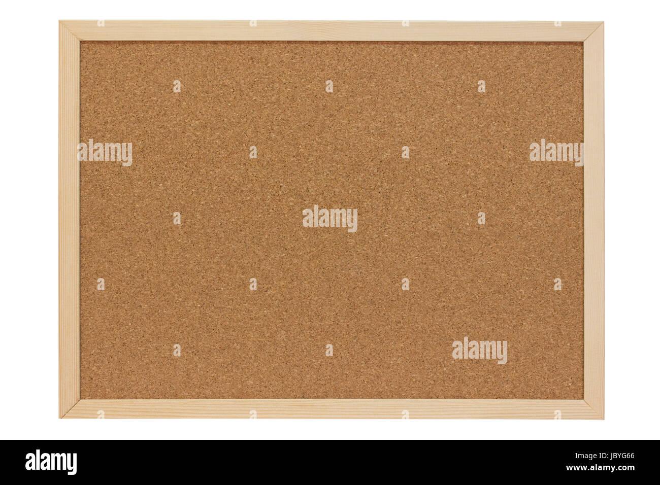 Pinnwand aus Kork mit Holzrahmen - freigestellt Stock Photo ...