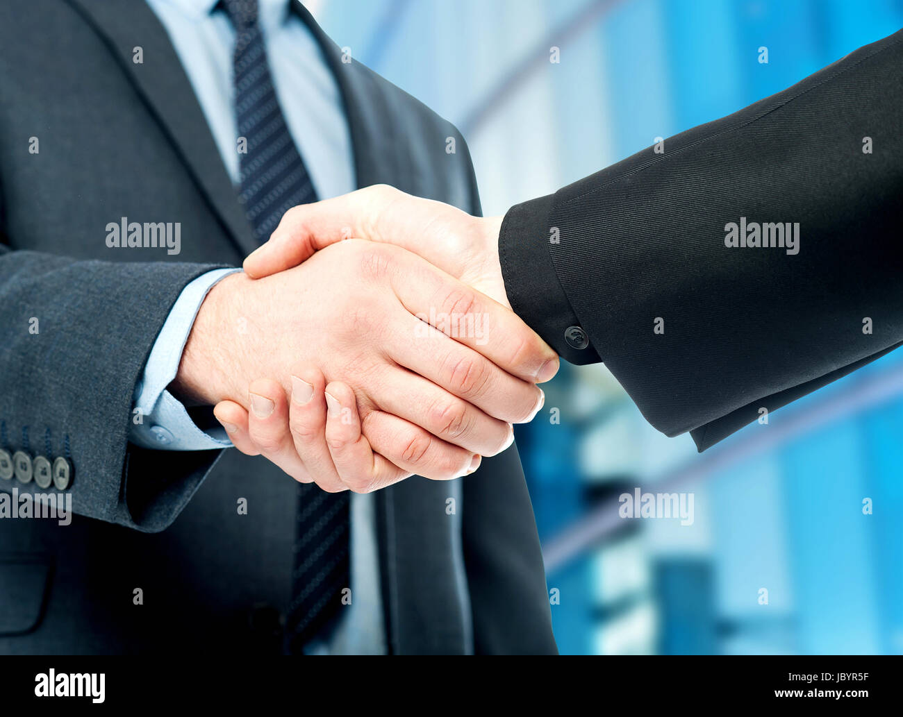 Business deal finalized, congratulations! Stock Photo