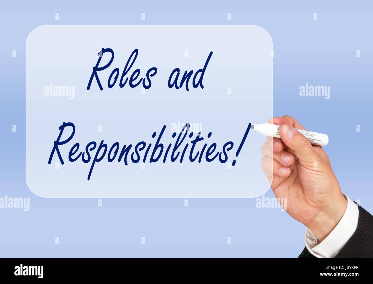 Roles and Responsibilities - Stock Image