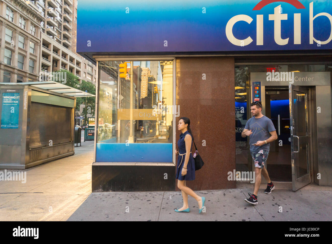 A branch of Citibank in the Chelsea neighborhhod in New York on Sunday, June 11, 2017. (© Richard B. Levine) - Stock Image