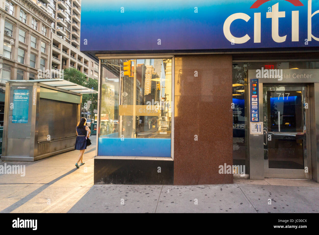 A branch of Citibank in the Chelsea neighborhhod in New York on Sunday, June 11, 2017. (© Richard B. Levine) Stock Photo