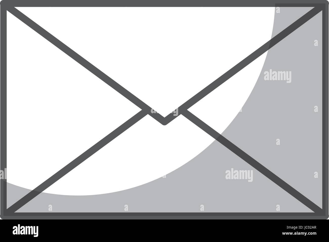 envelope mail isolated icon - Stock Image