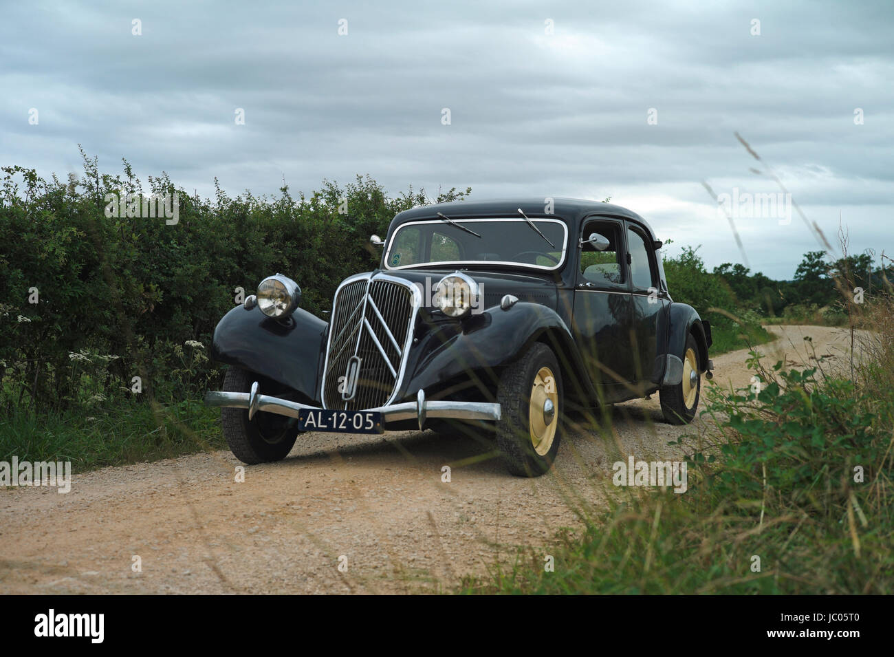 citroen 11 cv traction avant in the country side france - citroen 11 stock photo  145063408