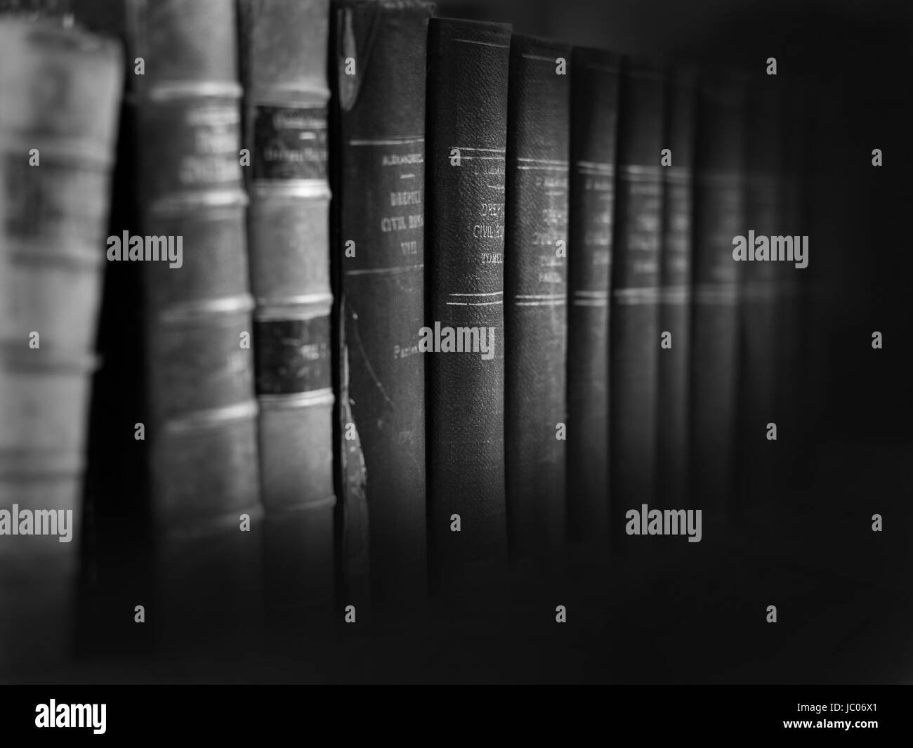 old legal books background - Stock Image