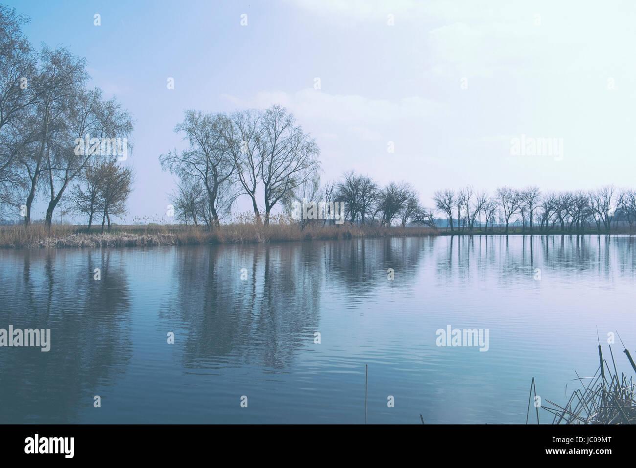 Looks like film photo of nature scene - Stock Image