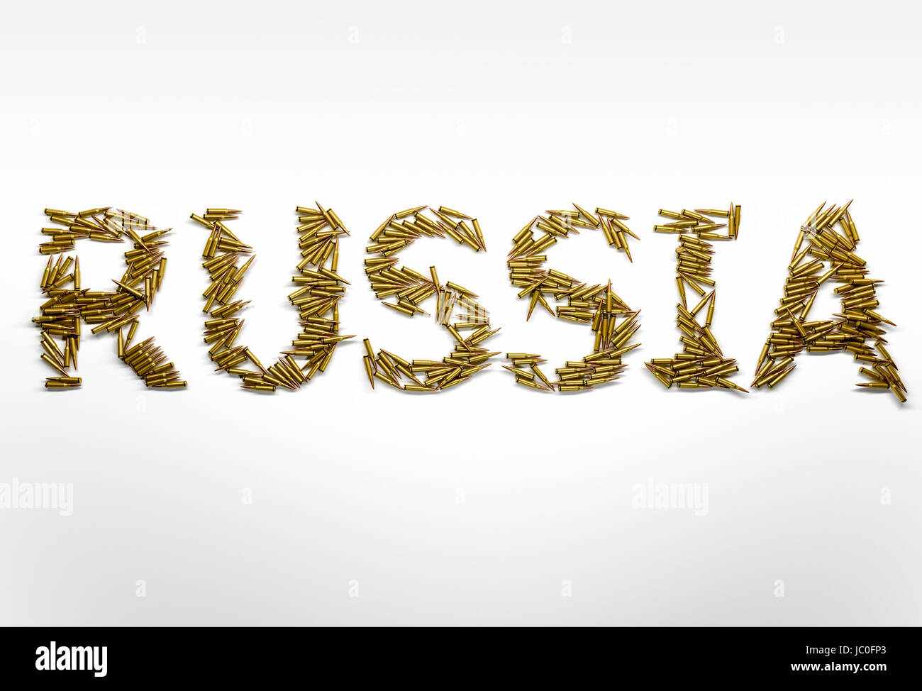 Concept of Russia in military conflicts  Word Russia typed