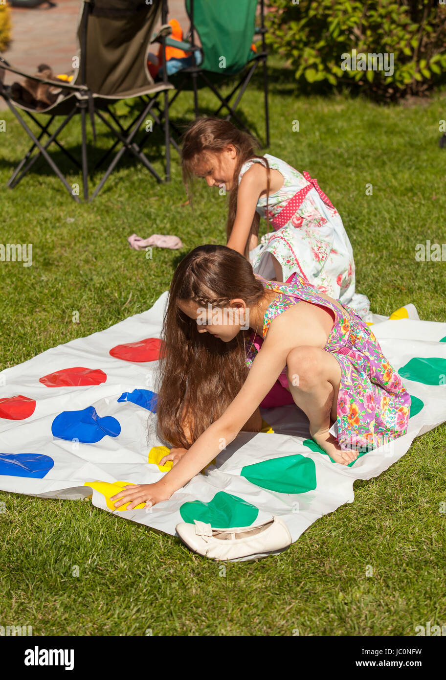 Hot year old girls playing twister #8
