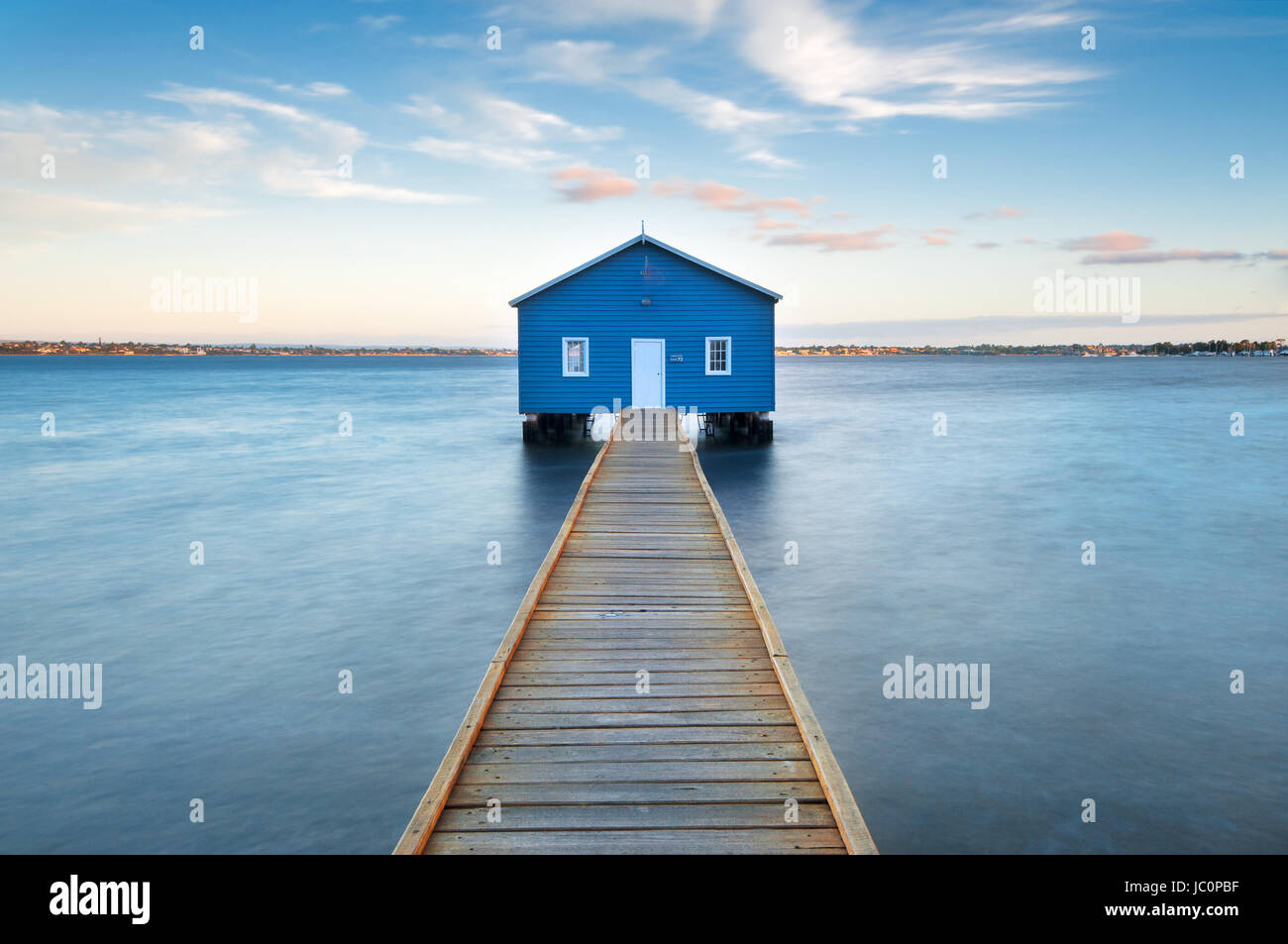 Famous Crawley Edge Boatshed in Perth's Matilda Bay. - Stock Image