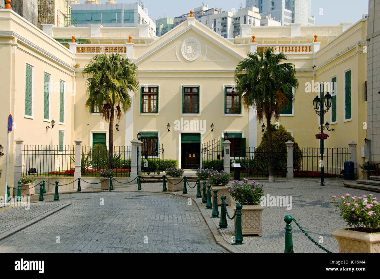 A view of classical chruch architecture in Macau - Stock Image