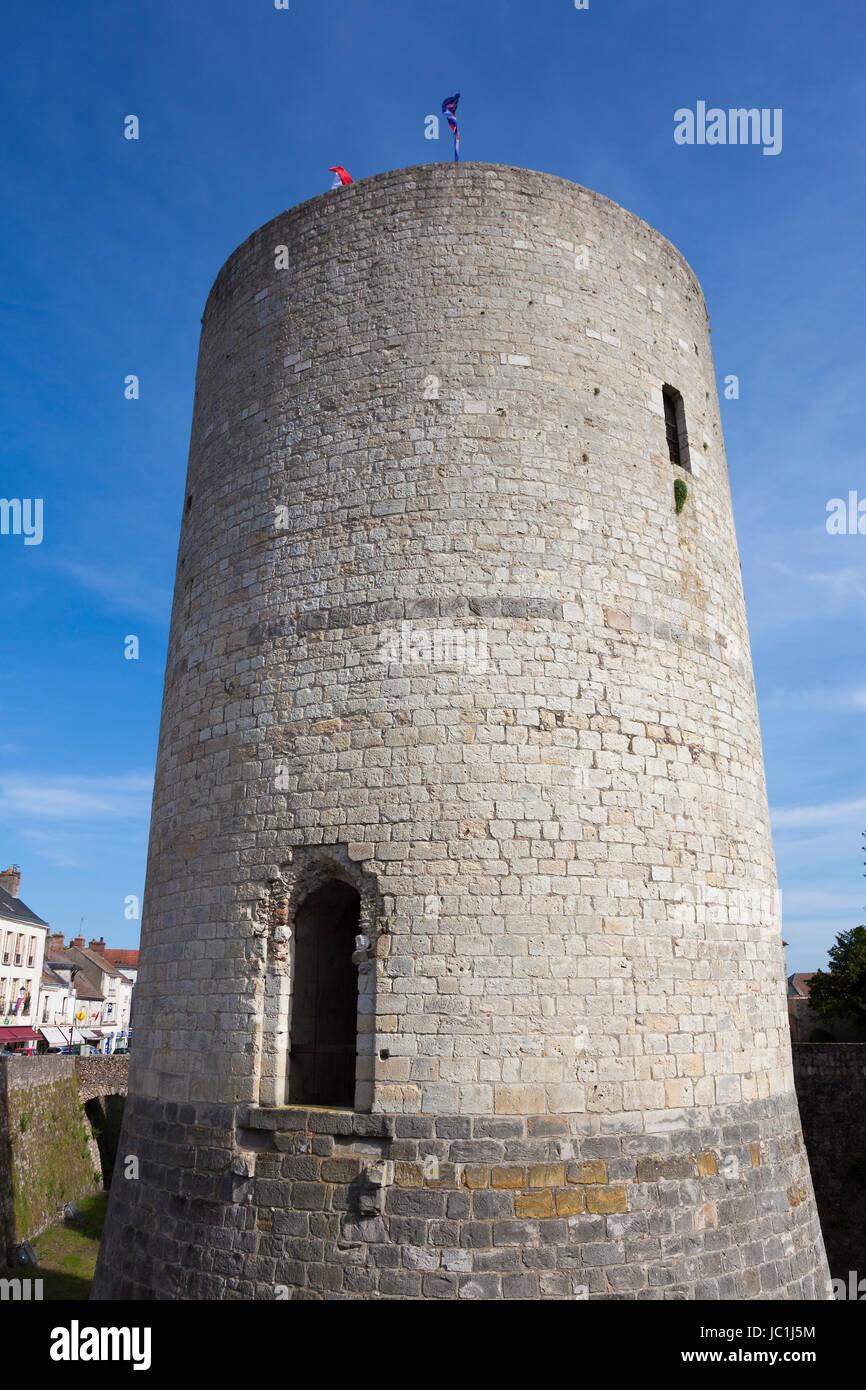 Castle of Dourdan, Essonne, Ile de france, France Stock Photo