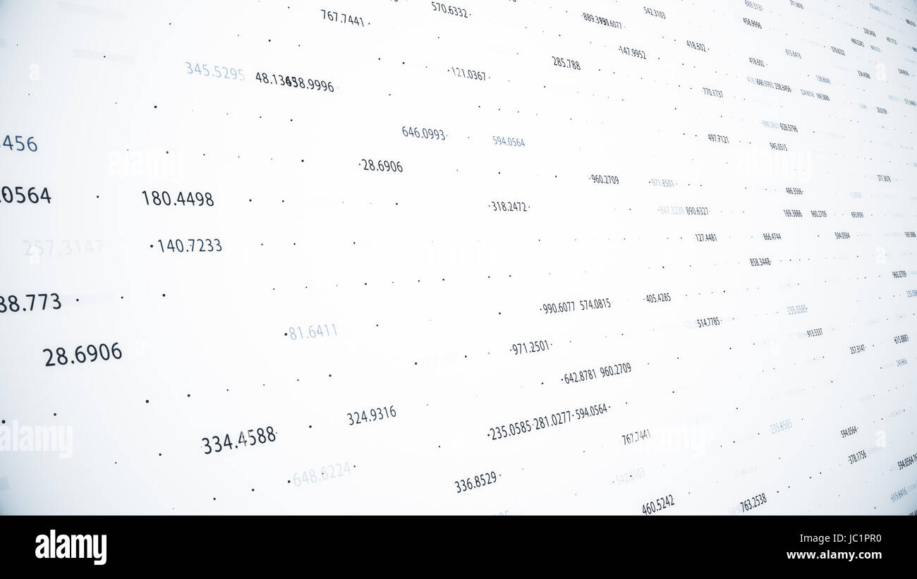Abstract Background With Growing Charts And Flowing Counters Of