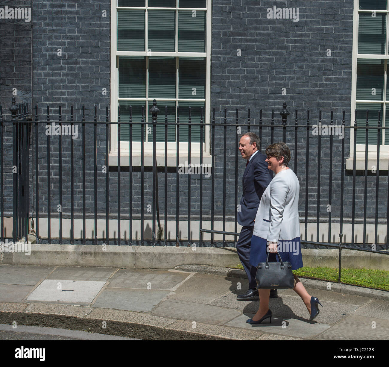 Downing Street, London, UK. 13th June, 2017. DUP leader Arlene Foster arrives in Downing Street with Northern Ireland - Stock Image
