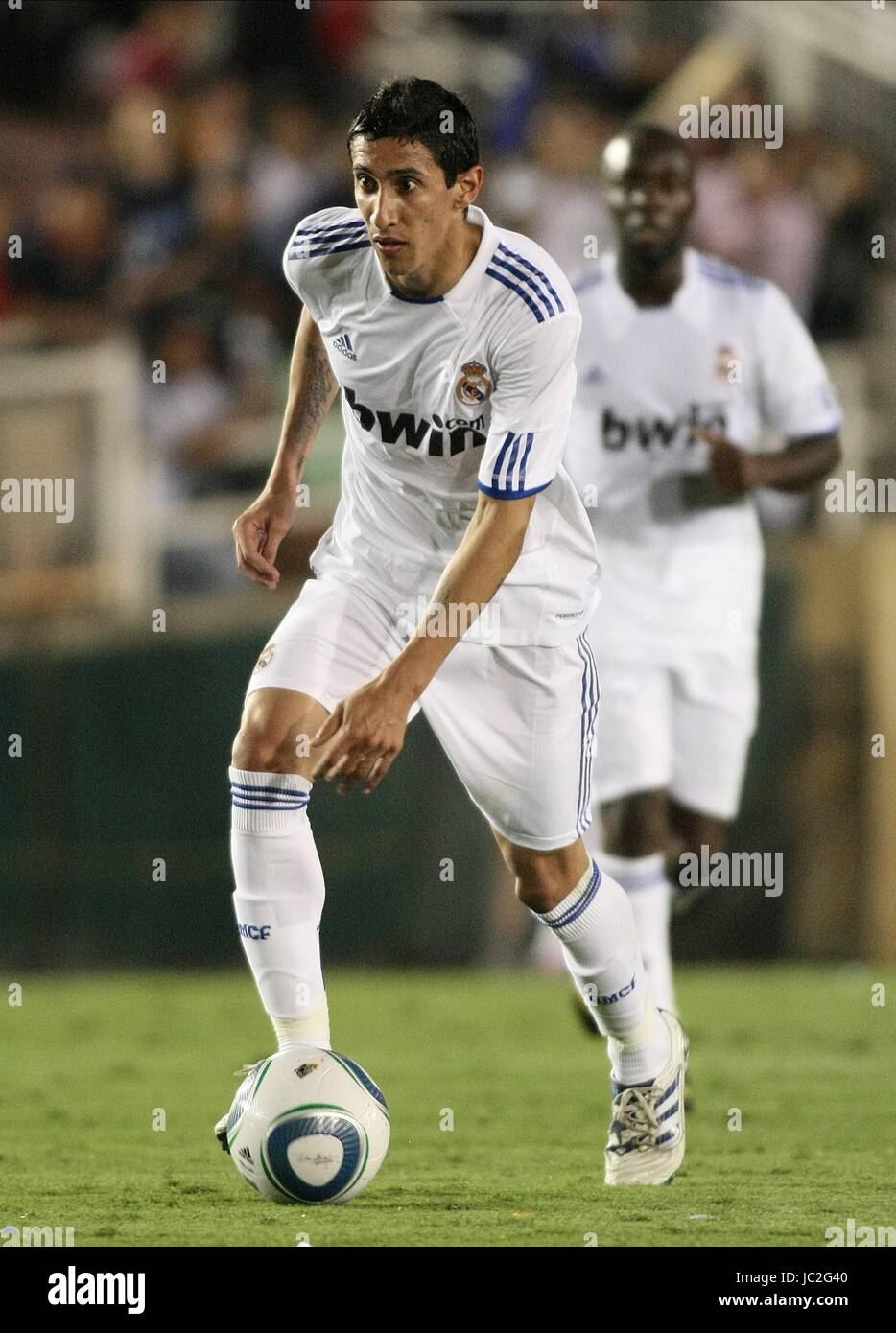 dc9f743a012 ANGEL DI MARIA REAL MADRID LOS ANGELES CALIFORNIA USA 07 August 2010 -  Stock Image