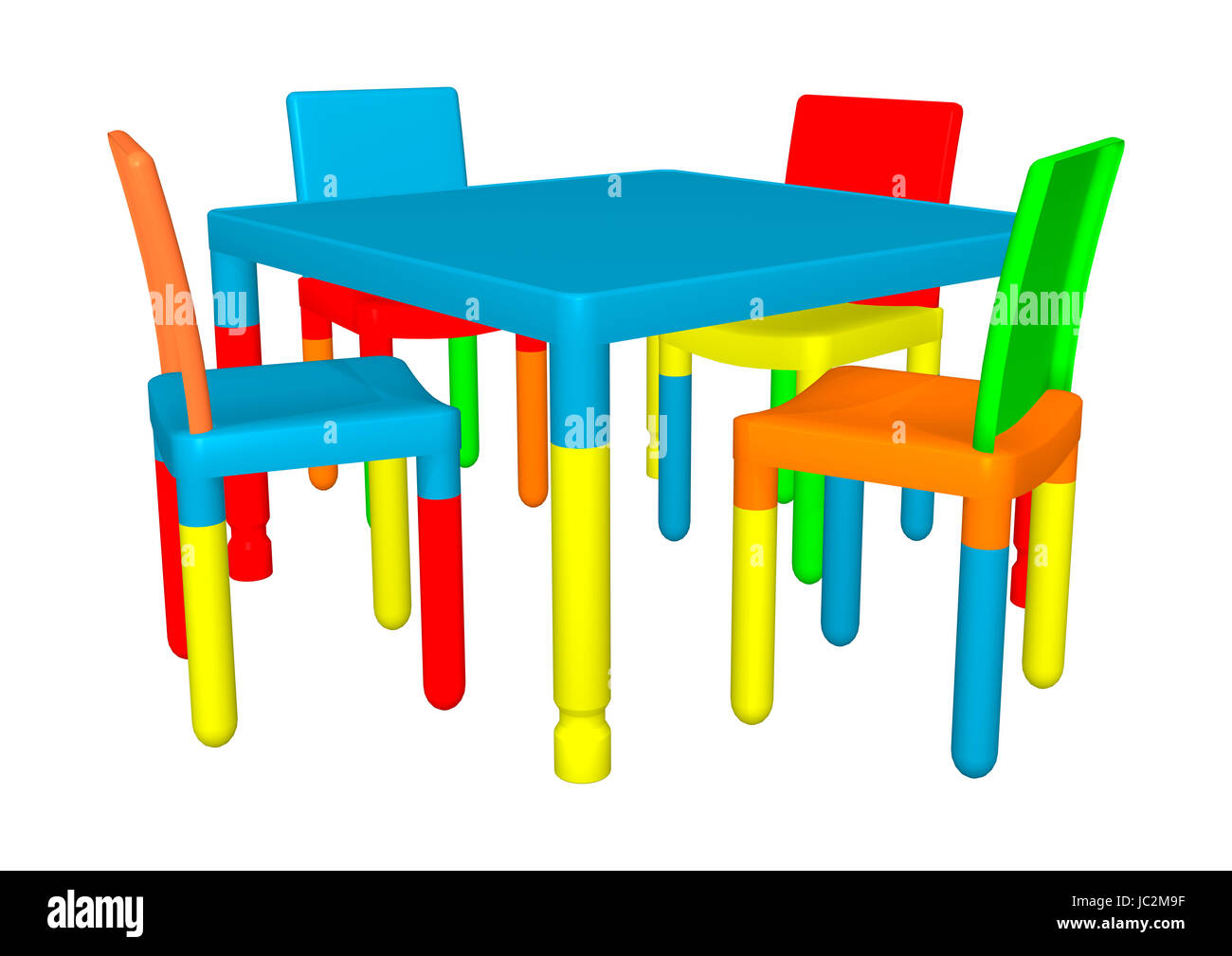 preschool chair. 3d Digital Render Of Colorful Preschool Table And Chairs Isolated On White Background Chair C