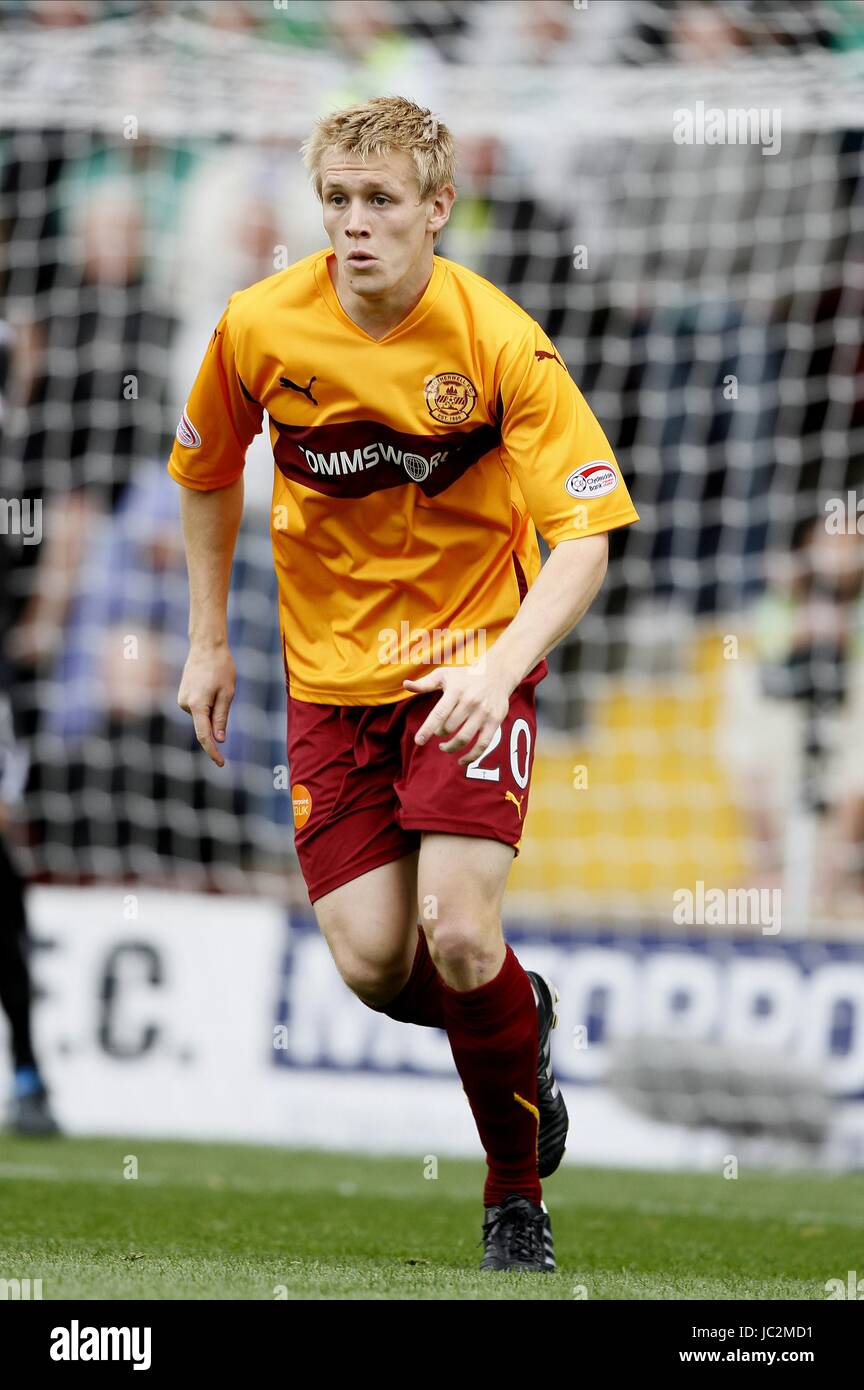 JONATHAN PAGE MOTHERWELL FC FIR PARK MOTHERWELL SCOTLAND 29 August 2010 Stock Photo