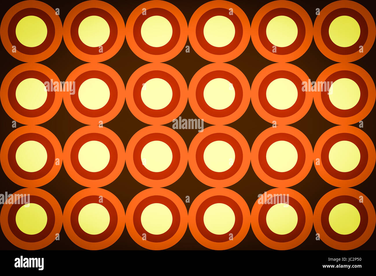 Vintage looking Acid sixties psychedelic background swinging London style - Stock Image