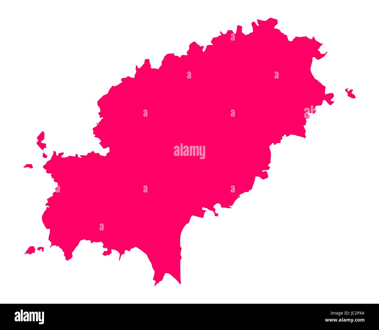 Karte von Ibiza - Stock Image