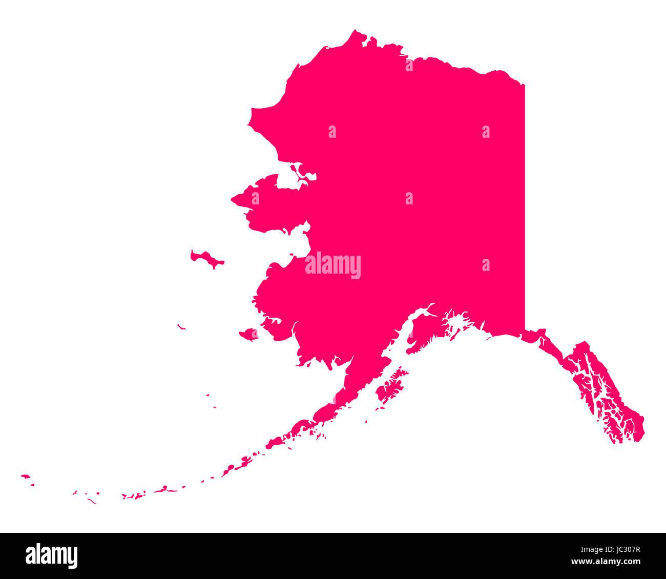 Karte von Alaska - Stock Image