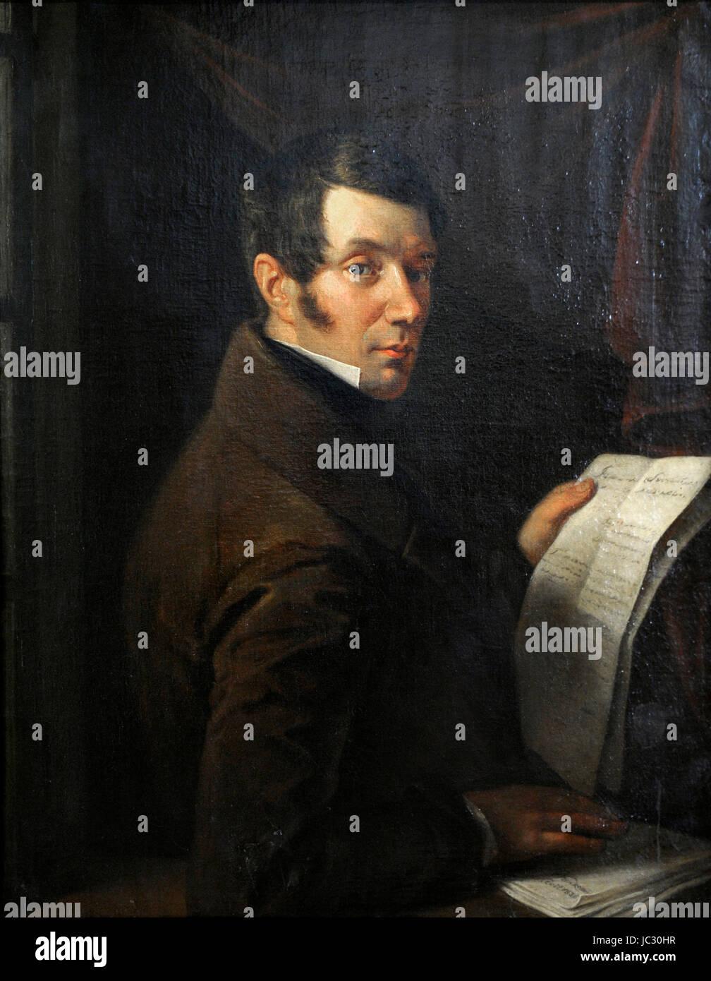 Kazimierz Piasecki (1798-1882). Lawyer, an Alumnus of Vilnius University. Portrait, 1836. By painter Walenty Wankowicz - Stock Image