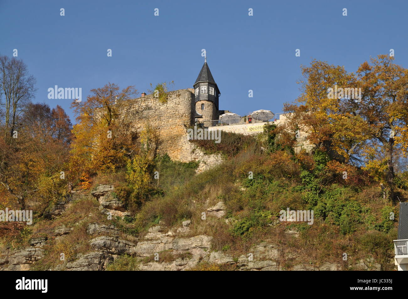 burg, sachsen, altrathen, burg altrathen,, Kurort Rathen, rathen, oberrathen, elbe, elbsandstein, elbsandsteingebirge, - Stock Image
